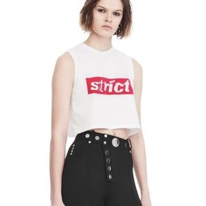 $235 Alexander Wang STRICT Cropped T-Shirt S